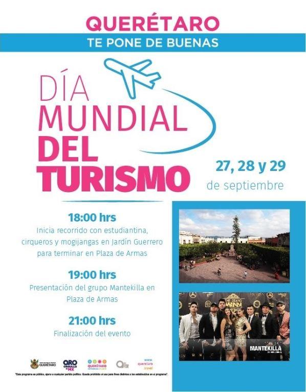 Querétaro se unirá a las celebraciones por el Día Mundial del Turismo 2019