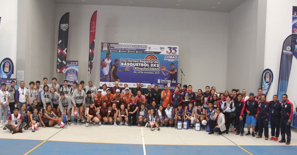 Concluye el primer Torneo Regional de Básquetbol 3 X 3 Orgullo COBAQ