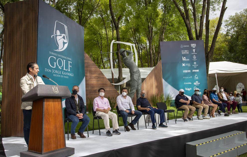 """Preside el Gobernador de Querétaro la premiación del Torneo Internacional de Golf """"Don Jorge Kahwagi"""""""